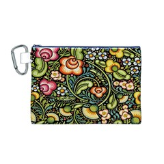 Bohemia Floral Pattern Canvas Cosmetic Bag (M)
