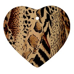 Animal Fabric Patterns Ornament (Heart)