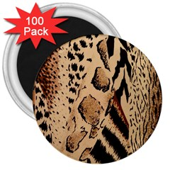 Animal Fabric Patterns 3  Magnets (100 pack)