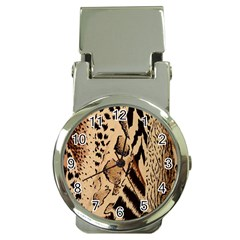 Animal Fabric Patterns Money Clip Watches