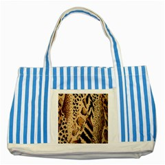 Animal Fabric Patterns Striped Blue Tote Bag