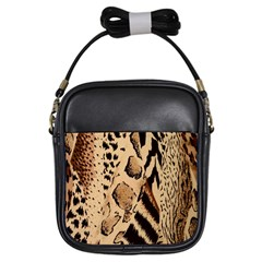 Animal Fabric Patterns Girls Sling Bags