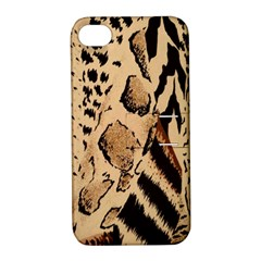 Animal Fabric Patterns Apple Iphone 4/4s Hardshell Case With Stand