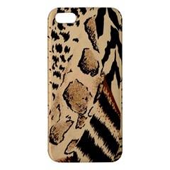 Animal Fabric Patterns Apple iPhone 5 Premium Hardshell Case