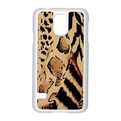 Animal Fabric Patterns Samsung Galaxy S5 Case (White)
