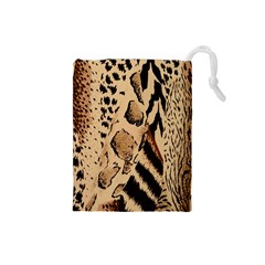 Animal Fabric Patterns Drawstring Pouches (small)