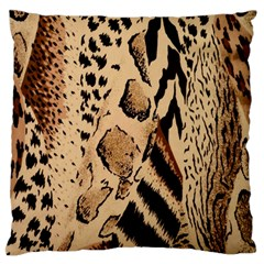Animal Fabric Patterns Large Flano Cushion Case (two Sides)