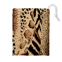 Animal Fabric Patterns Drawstring Pouches (Extra Large)