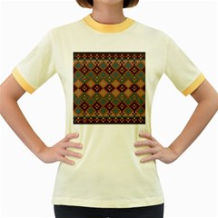 Knitted Pattern Women s Fitted Ringer T-Shirts