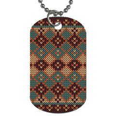 Knitted Pattern Dog Tag (One Side)