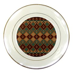 Knitted Pattern Porcelain Plates