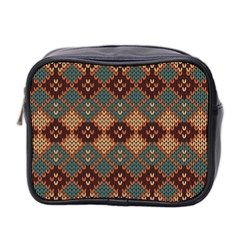 Knitted Pattern Mini Toiletries Bag 2-Side