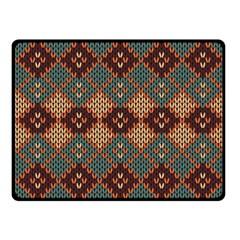 Knitted Pattern Fleece Blanket (Small)