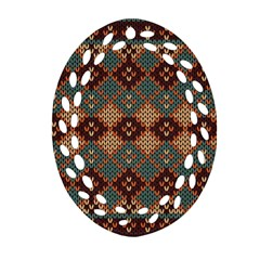 Knitted Pattern Ornament (Oval Filigree)