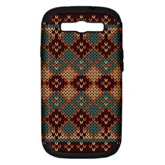 Knitted Pattern Samsung Galaxy S Iii Hardshell Case (pc+silicone)