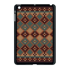 Knitted Pattern Apple Ipad Mini Case (black)