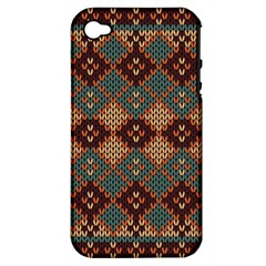 Knitted Pattern Apple Iphone 4/4s Hardshell Case (pc+silicone)