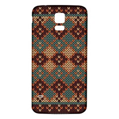 Knitted Pattern Samsung Galaxy S5 Back Case (White)