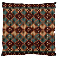 Knitted Pattern Standard Flano Cushion Case (Two Sides)