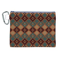Knitted Pattern Canvas Cosmetic Bag (XXL)