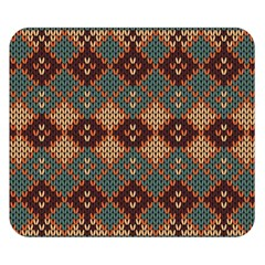 Knitted Pattern Double Sided Flano Blanket (Small)