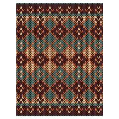 Knitted Pattern Drawstring Bag (large)