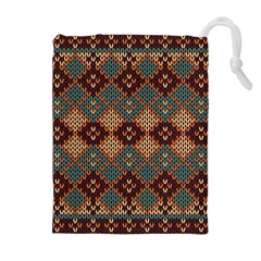 Knitted Pattern Drawstring Pouches (extra Large)