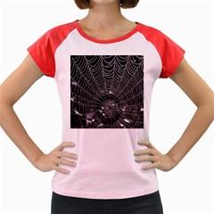 Spider Web Wallpaper 14 Women s Cap Sleeve T-Shirt