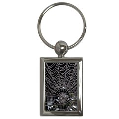 Spider Web Wallpaper 14 Key Chains (rectangle)
