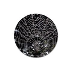 Spider Web Wallpaper 14 Magnet 3  (Round)