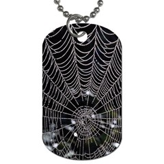 Spider Web Wallpaper 14 Dog Tag (one Side)