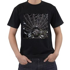 Spider Web Wallpaper 14 Men s T-Shirt (Black) (Two Sided)