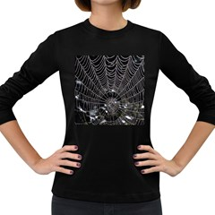 Spider Web Wallpaper 14 Women s Long Sleeve Dark T-Shirts
