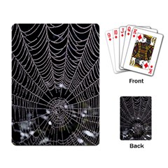 Spider Web Wallpaper 14 Playing Card