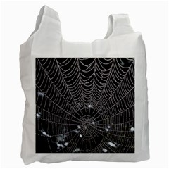 Spider Web Wallpaper 14 Recycle Bag (Two Side)
