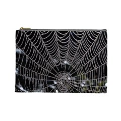 Spider Web Wallpaper 14 Cosmetic Bag (large)