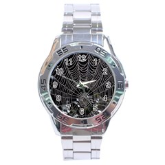 Spider Web Wallpaper 14 Stainless Steel Analogue Watch