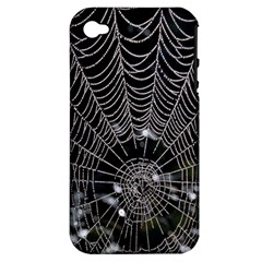 Spider Web Wallpaper 14 Apple iPhone 4/4S Hardshell Case (PC+Silicone)