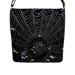Spider Web Wallpaper 14 Flap Messenger Bag (L)