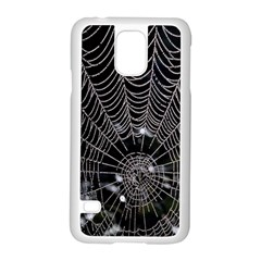 Spider Web Wallpaper 14 Samsung Galaxy S5 Case (white)