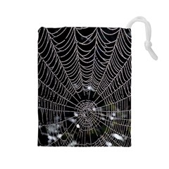 Spider Web Wallpaper 14 Drawstring Pouches (large)
