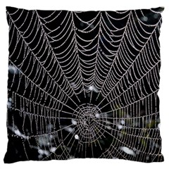 Spider Web Wallpaper 14 Large Flano Cushion Case (One Side)