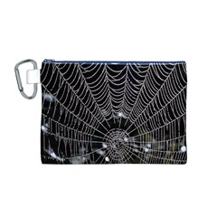 Spider Web Wallpaper 14 Canvas Cosmetic Bag (m)