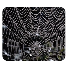 Spider Web Wallpaper 14 Double Sided Flano Blanket (small)