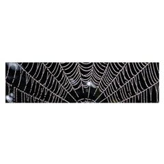 Spider Web Wallpaper 14 Satin Scarf (oblong)