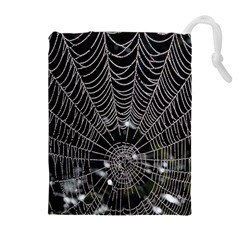 Spider Web Wallpaper 14 Drawstring Pouches (Extra Large)