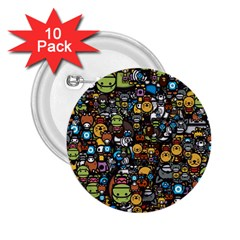 Many Funny Animals 2 25  Buttons (10 Pack)