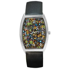 Many Funny Animals Barrel Style Metal Watch