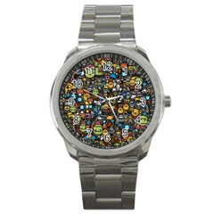 Many Funny Animals Sport Metal Watch