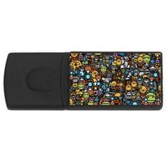 Many Funny Animals USB Flash Drive Rectangular (4 GB)
